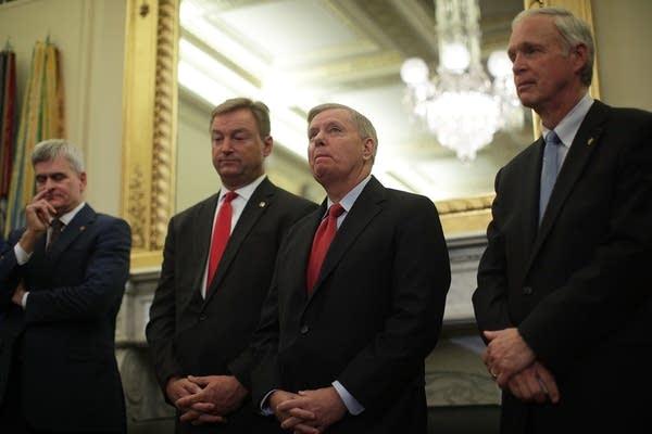 Republican senators unveil legislation to repeal and replace Obamacare.
