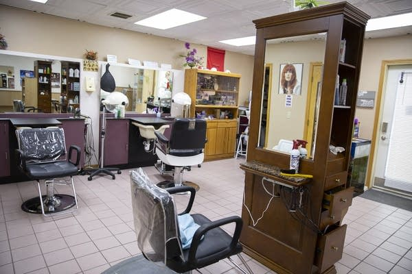 The inside of a beauty salon