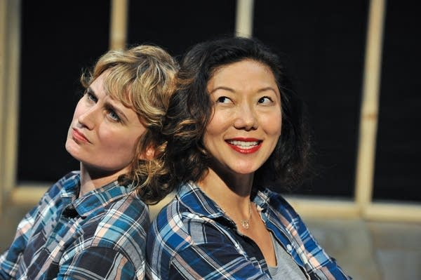 Tracey Maloney and Sun Mee Chomet play two sides of the same person