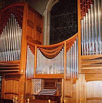 1990 Zanin organ at the Chiesa di Santa Rita da Cascia, Torino, Italy