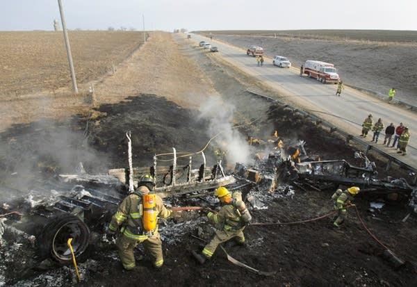 Cheese truck crash