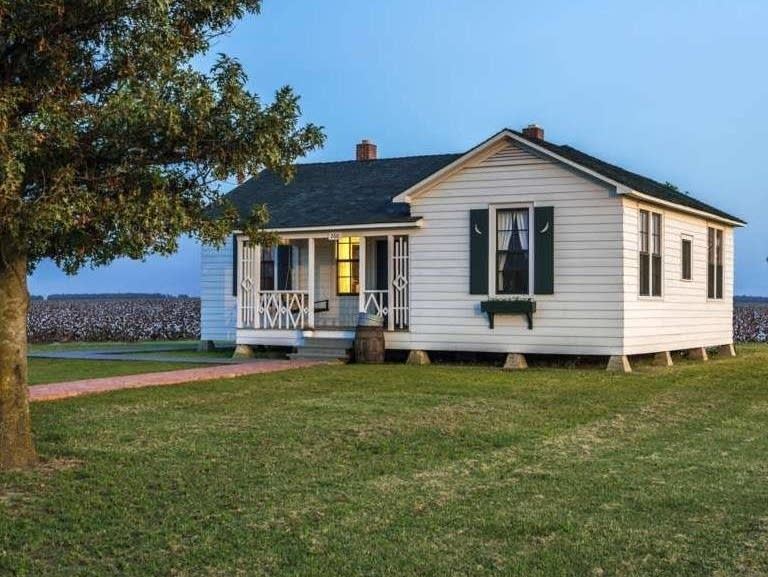 Johnny Cash's childhood home in rural Arkansas.