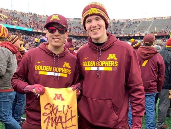 University of Minnesota students Zach Faith (left) and Zach Uter