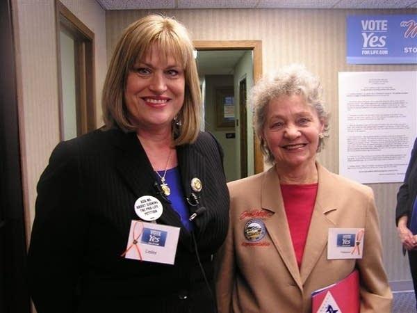 Leslie Unruh (l) and Mary Glenski (r)