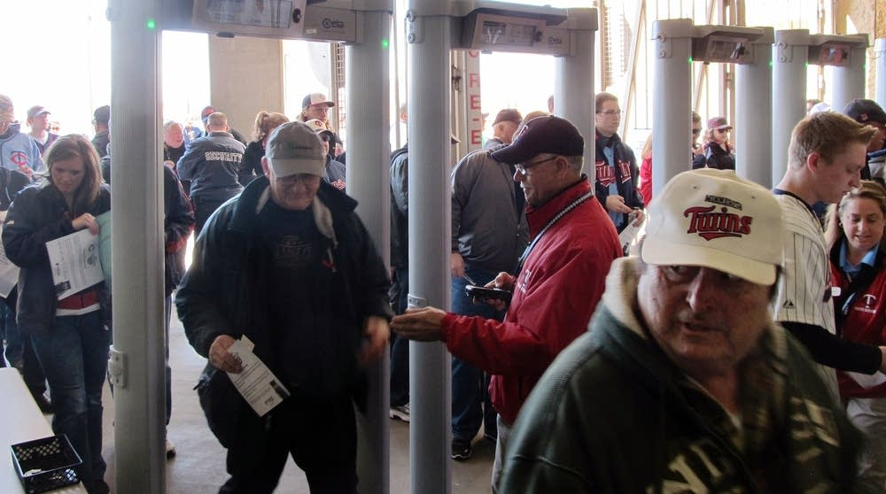 The new metal detectors at Target Field
