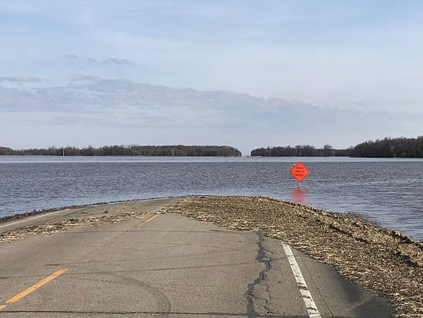 State Highway 220 near Oslo Minn remains closed by flood waters