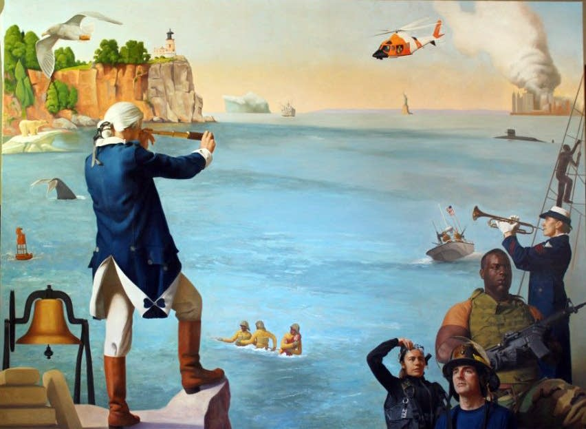 Charles Kapsner's Coast Guard painting