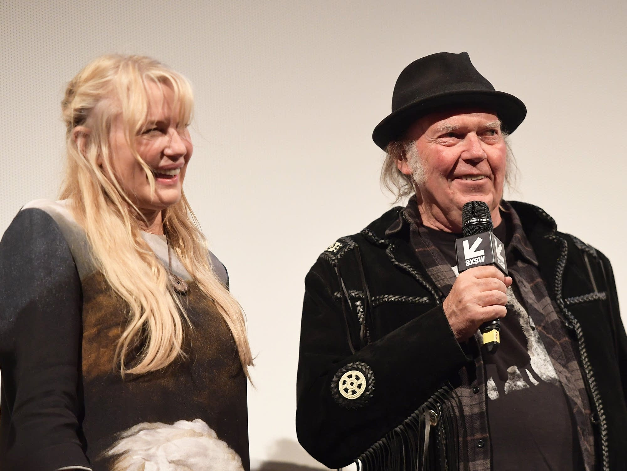 Daryl Hannah and Neil Young at SXSW in 2018.