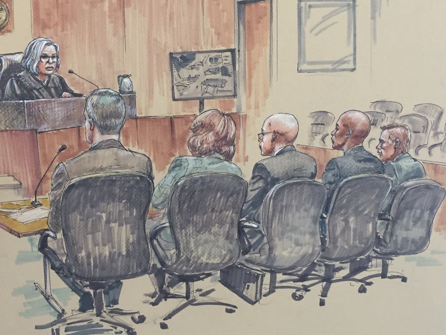 Inside the courtroom at Mohamed Noor's trial on Tuesday, April 2, 2019.