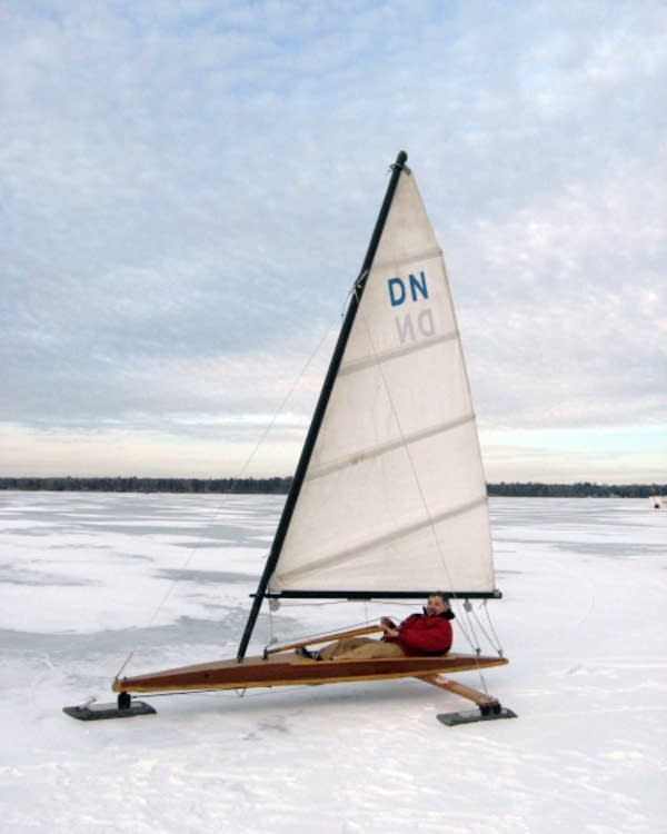 Jon Blessing's ice boat doesn't get a lot of use.