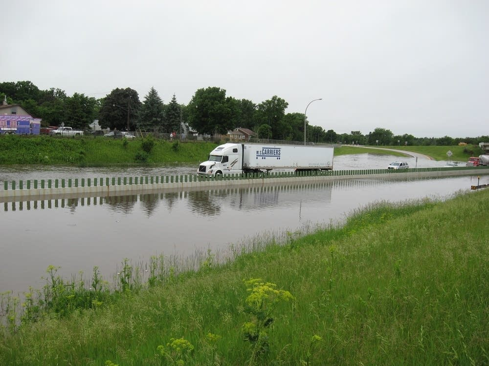 Flooding on I-90