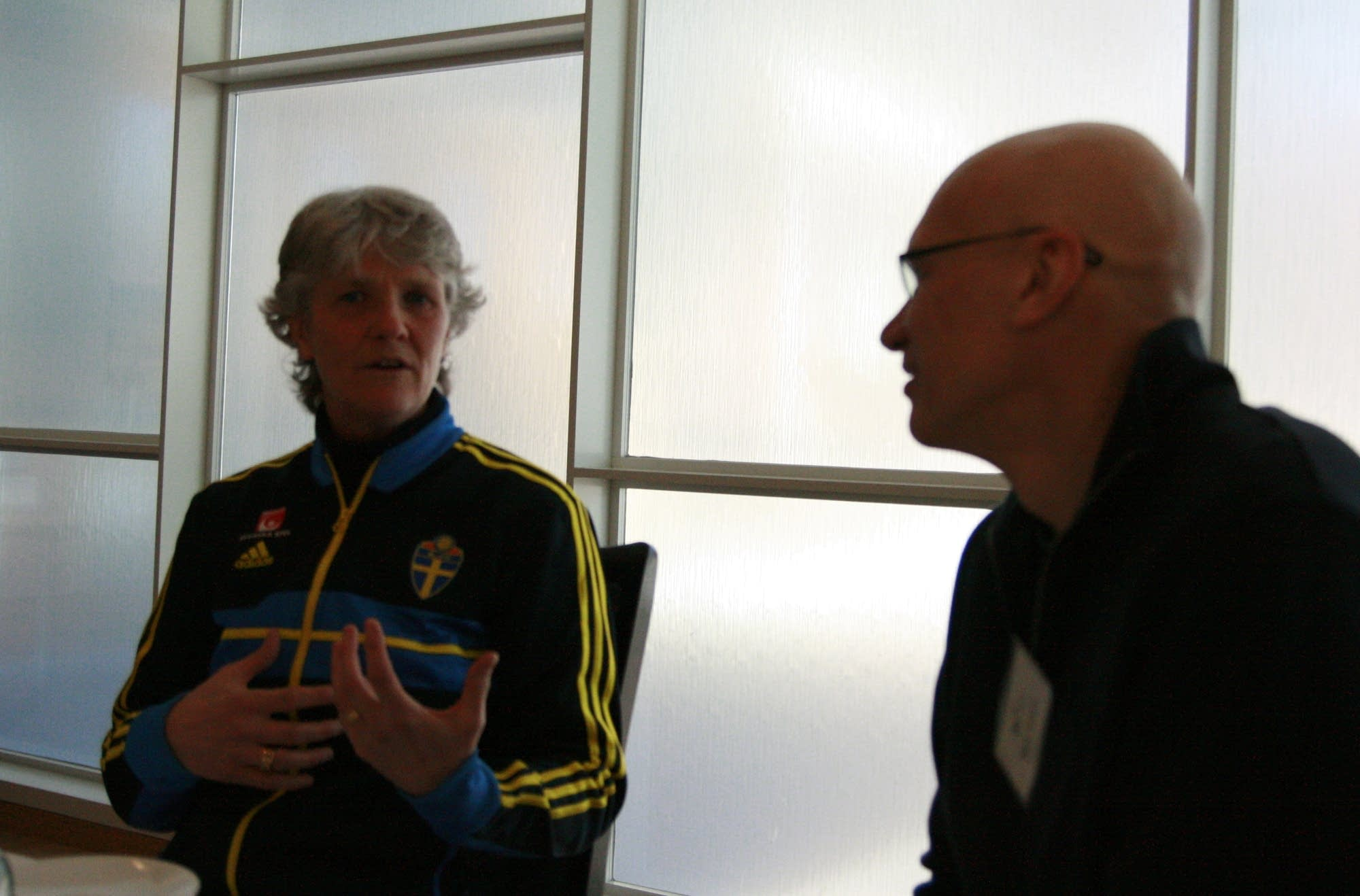 pia sundhage mark wheat lunch