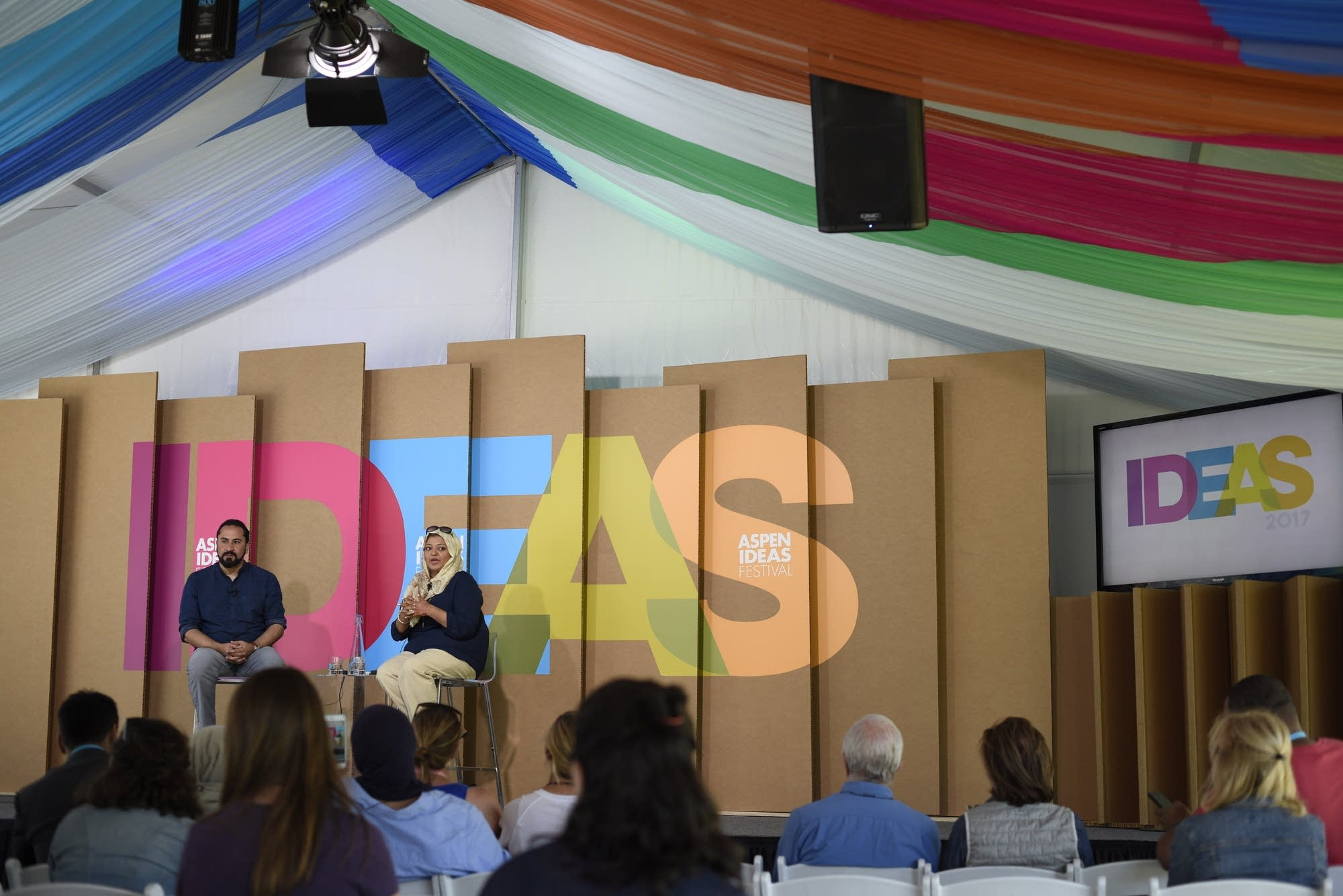 Rabia Chaudry and Haris Tarin at the 2017 Aspen Ideas Festival.