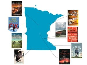 A sample of some of the most popular books at Minnesota libraries in 2017