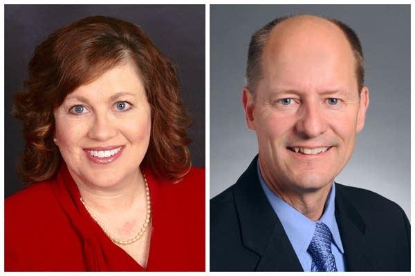 A side-by-side image of Minnesota Sens. Benson and Gazelka