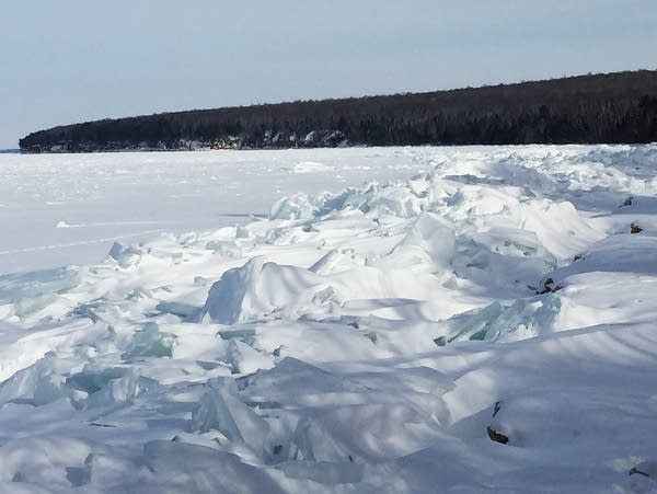 Ice along the shore of Lake Superior