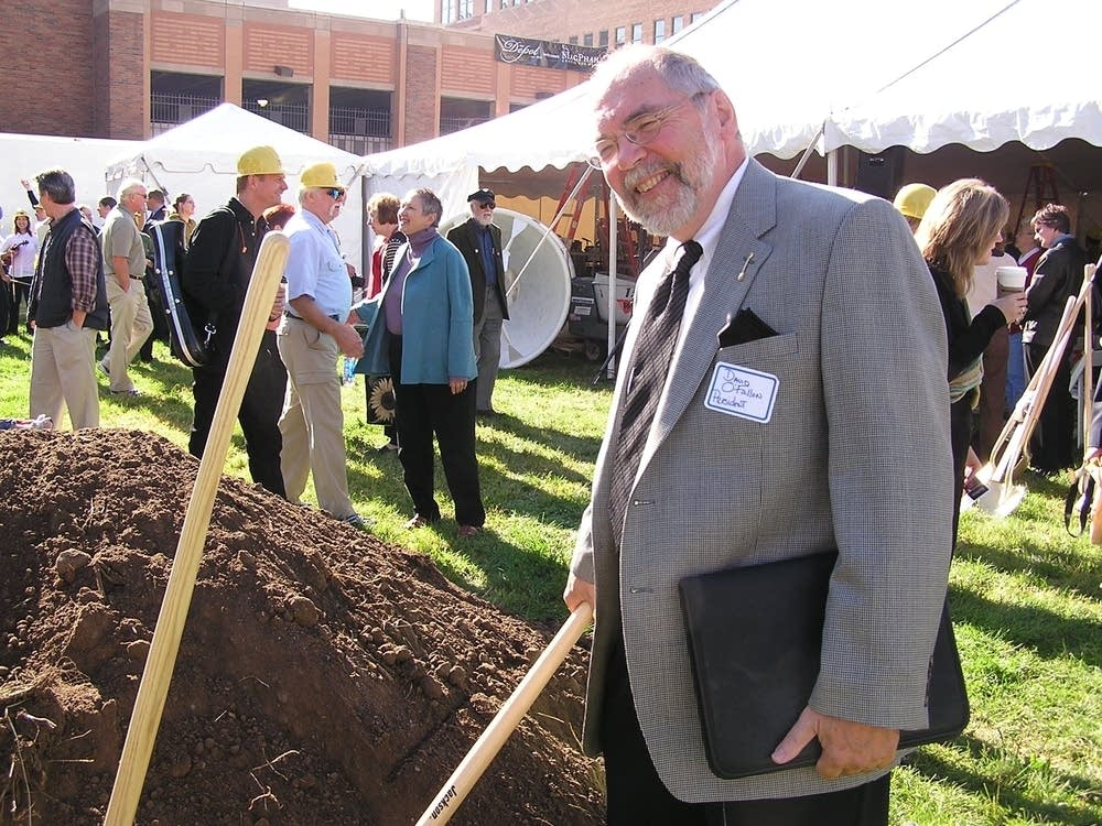 President O'Fallon breaks ground