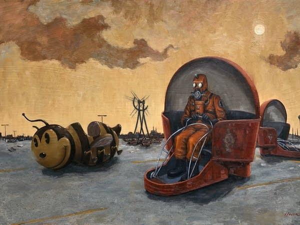 An oil painting by artist John Sauer