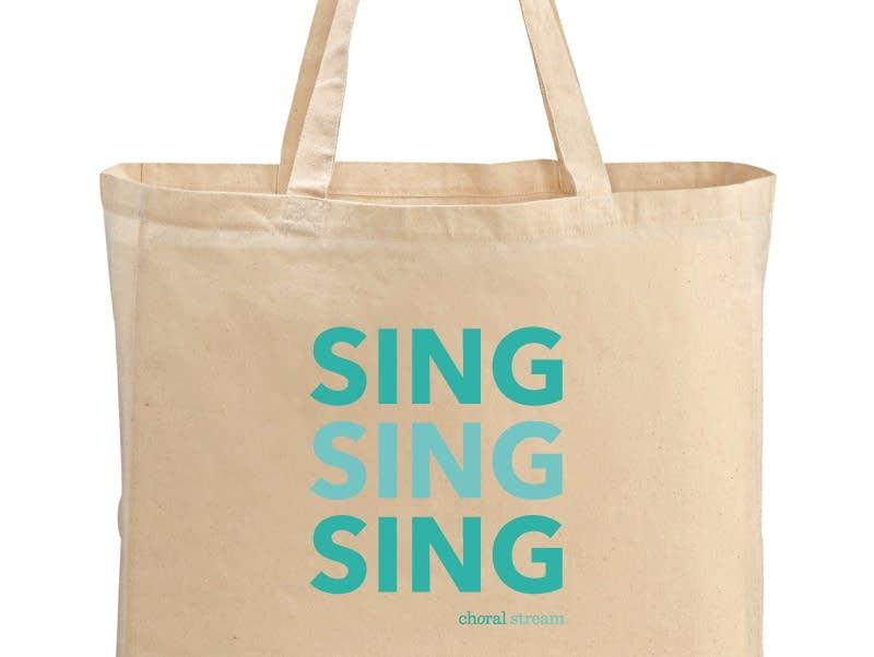 Choral Stream tote bag