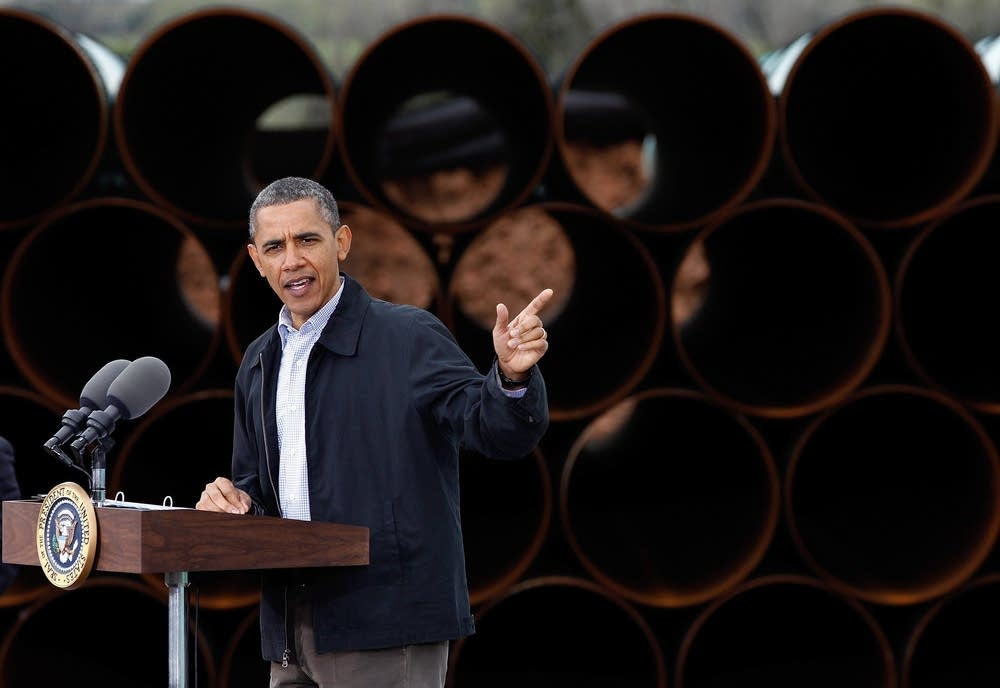 President Obama speaks at Keystone oil pipeline