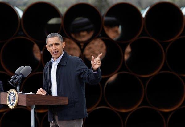 President Obama speaks at Keystone oil pipeline