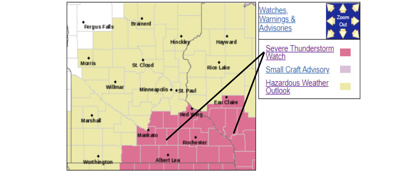 Severe Thunderstorm Watch in effect on Sunday