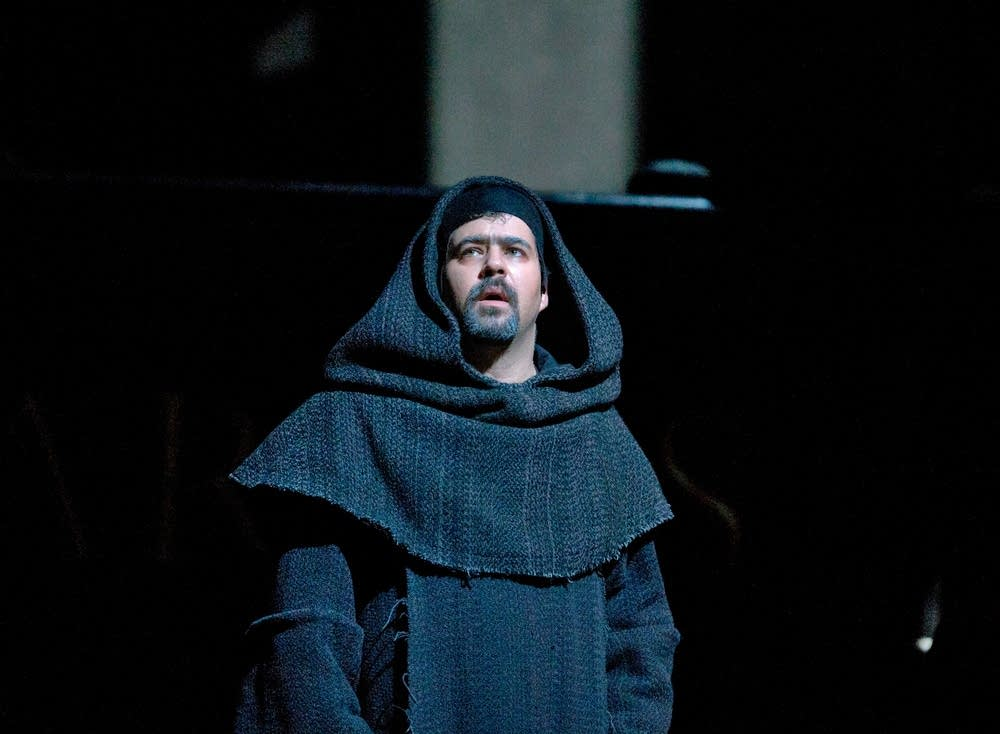 Miklos Sebestyen as Frate in Verdi's