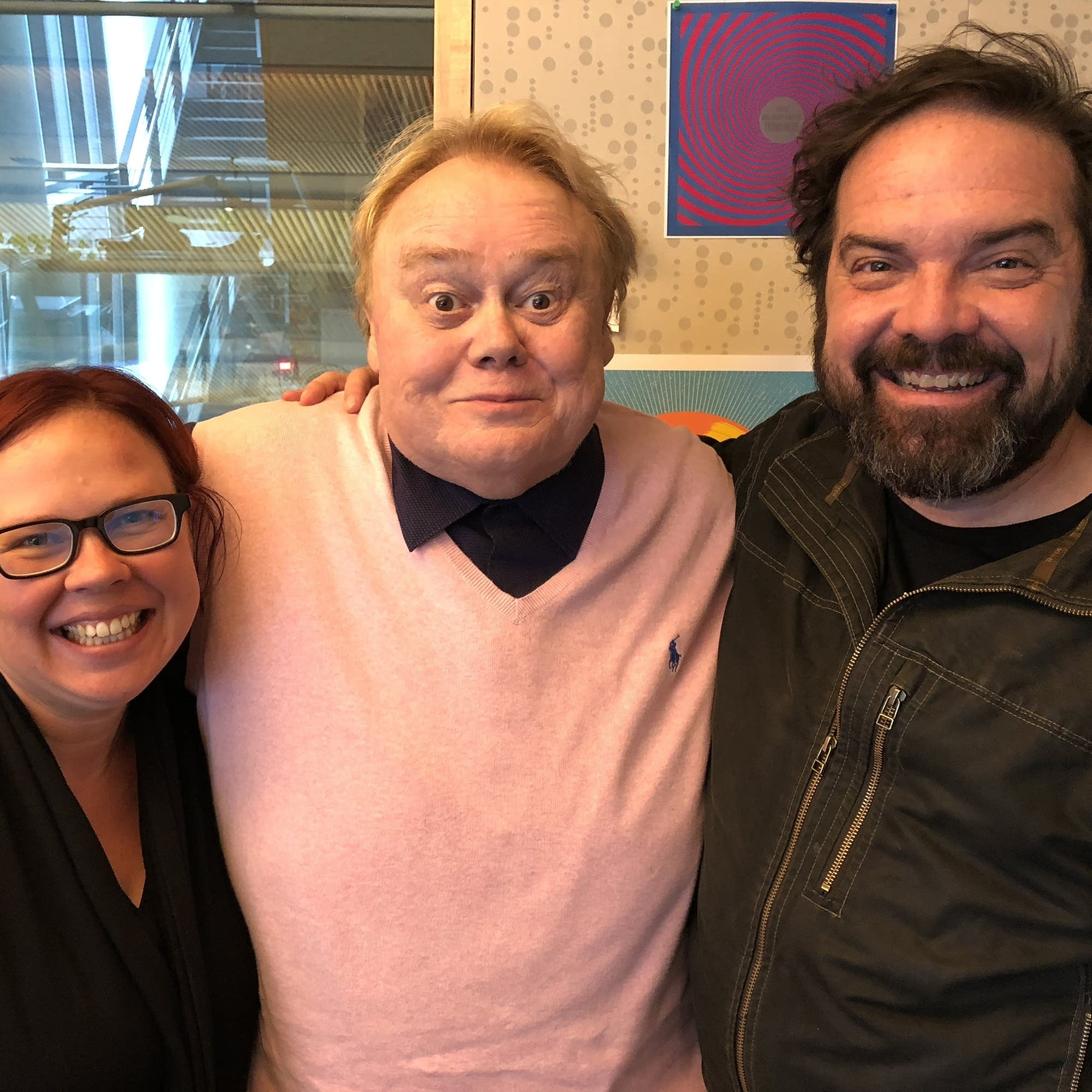 Louie Anderson with Jill Riley and Brian Oake