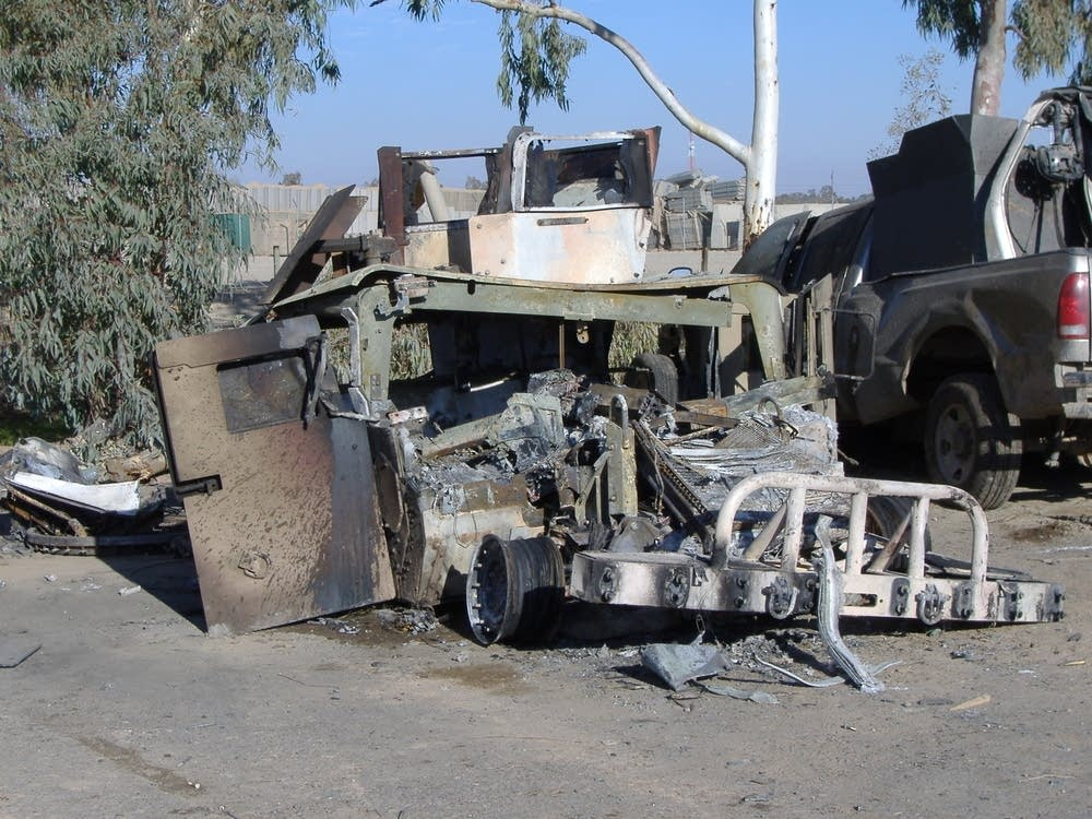 Bombed-out Humvee