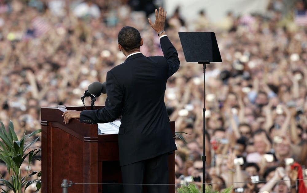 Democratic presidential candidate Barack Obama