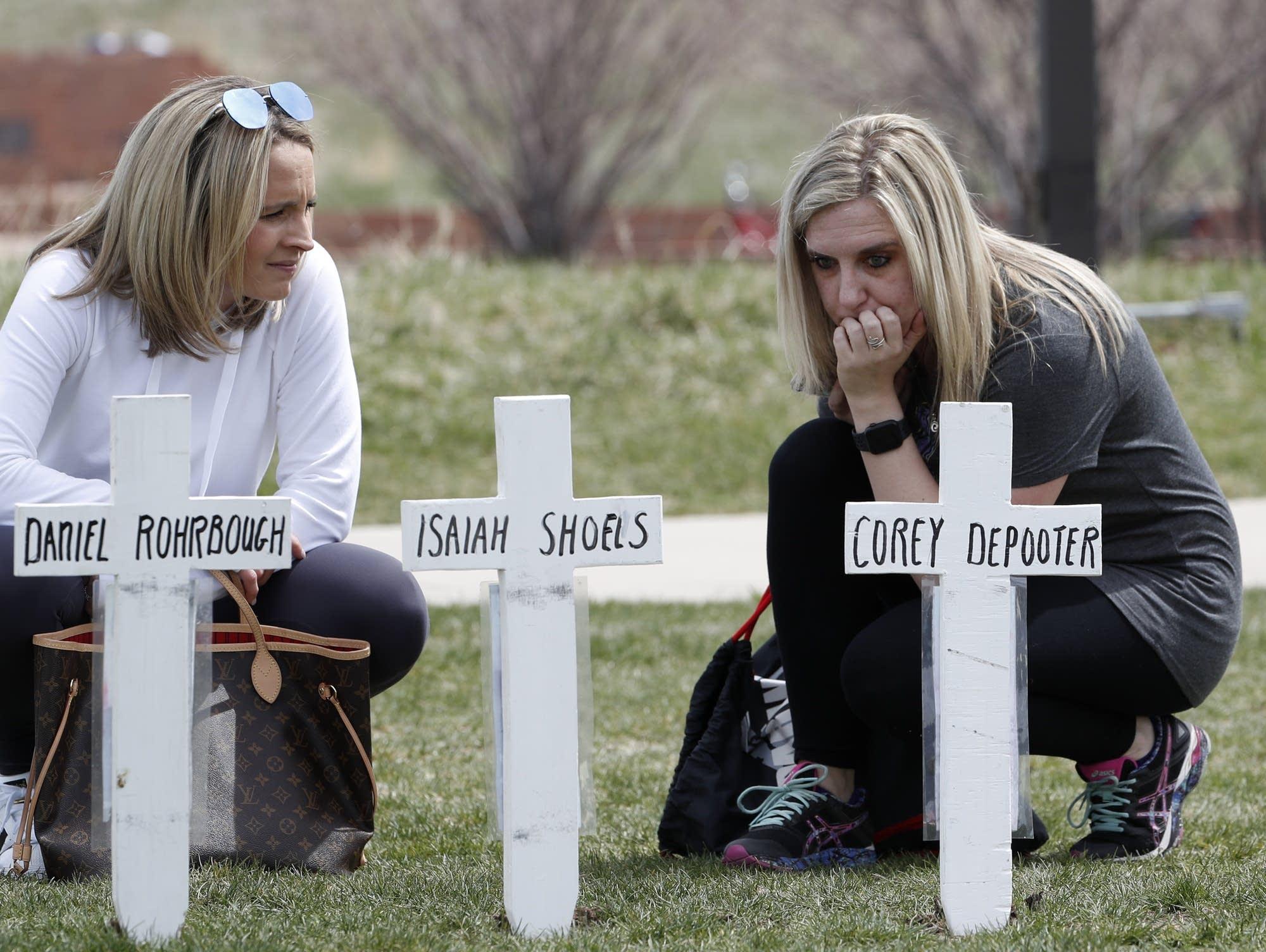 Cassandra Sandusky (right), a graduate of Columbine High School
