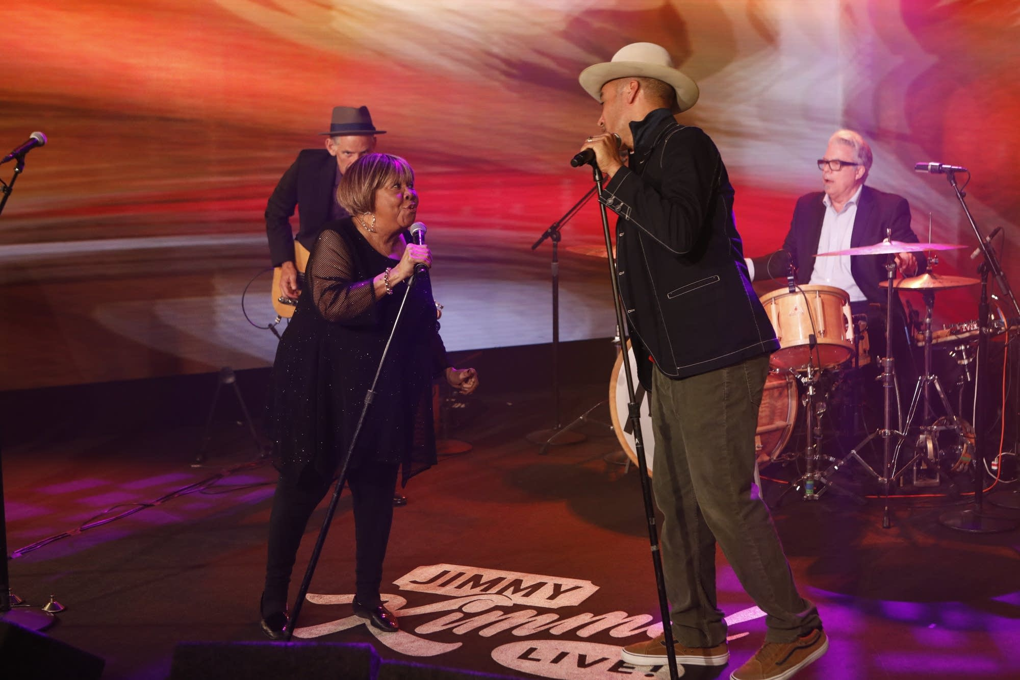 Mavis Staples performs with Ben Harper on 'Jimmy Kimmel Live!'