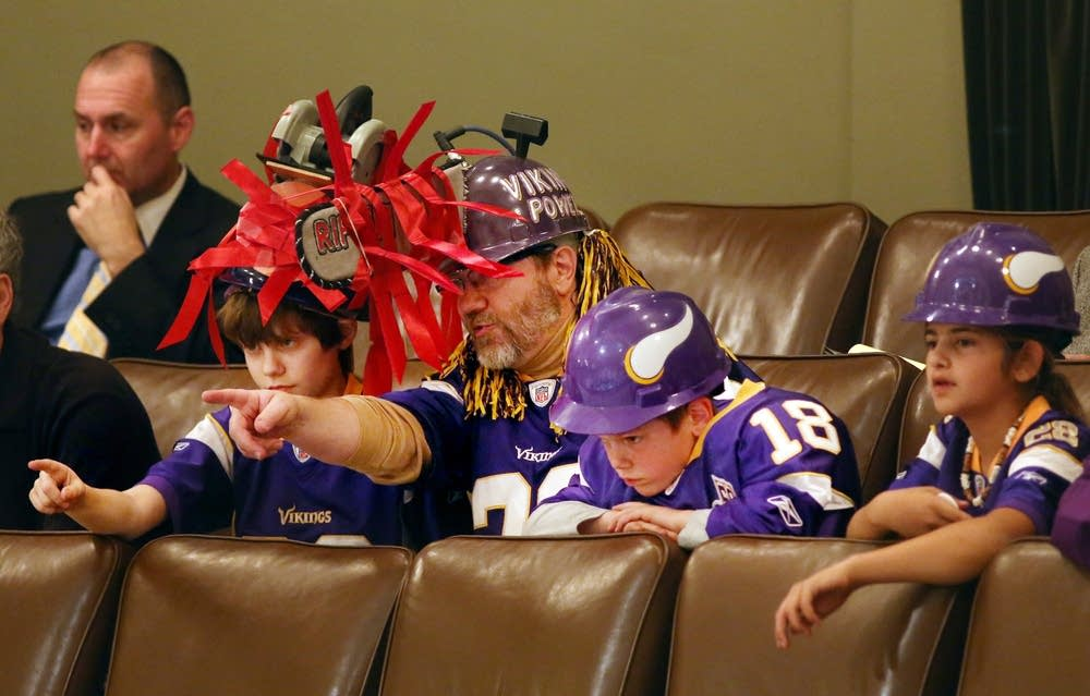 Young Vikings fans in the House gallery