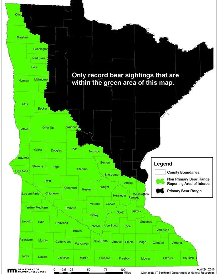 DNR launches app to track bear sightings in southern, western ... on minnesota casinos, minnesota counties, maryland map, minnesota abbreviation, minnesota weather, minnesota geography, louisiana map, minnesota information, mississippi map, north carolina map, minnesota food, minnesota towns, minnesota population density, minnesota birds, maine map, minnesota people, minnesota radar, minnesota flag, minnesota nickname, minnesota mapquest, minnesota outline, kansas map, oklahoma map, new jersey map, minnesota national parks, minnesota travel, minnesota border, minnesota silhouette,