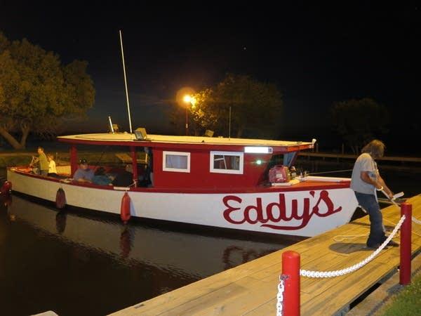 Fishing launch at Eddy's Resort