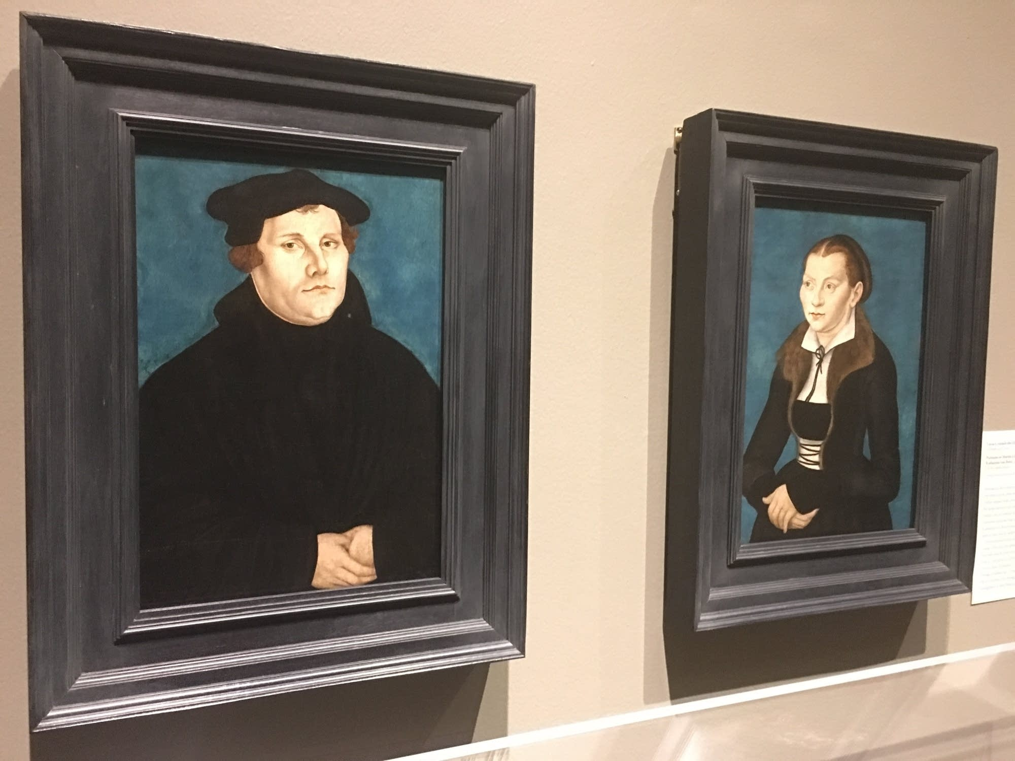 Portraits of Luther and his wife