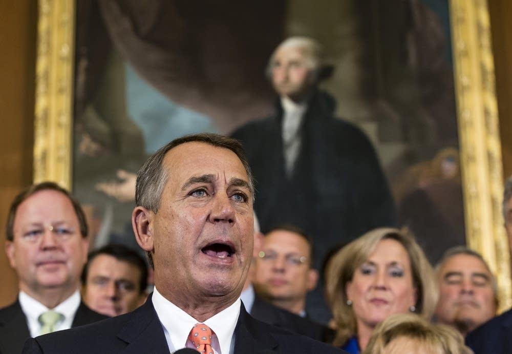 Boehner talks about budget bill
