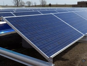 Solar panels used by the city of Hutchinson.
