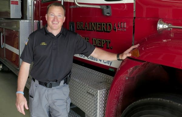 Brainerd Fire Chief Tim Holmes