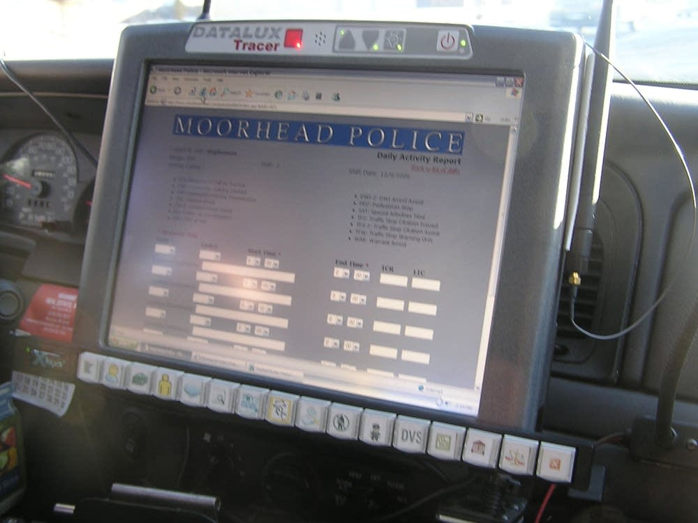 Squad car computer disparities