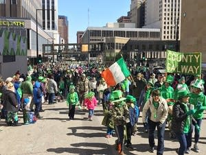 St. Patrick's Day parade in St. Paul