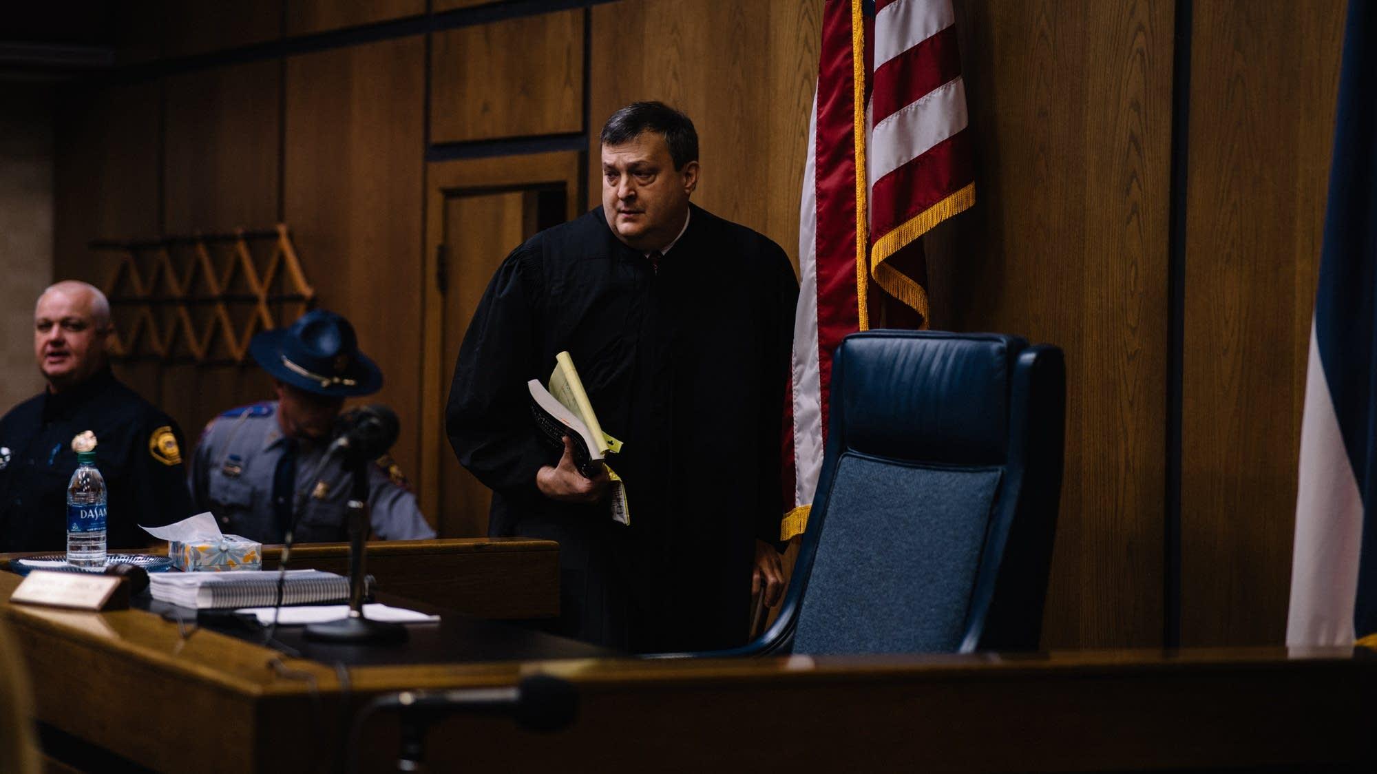 Judge Joey Loper enters the courtroom.