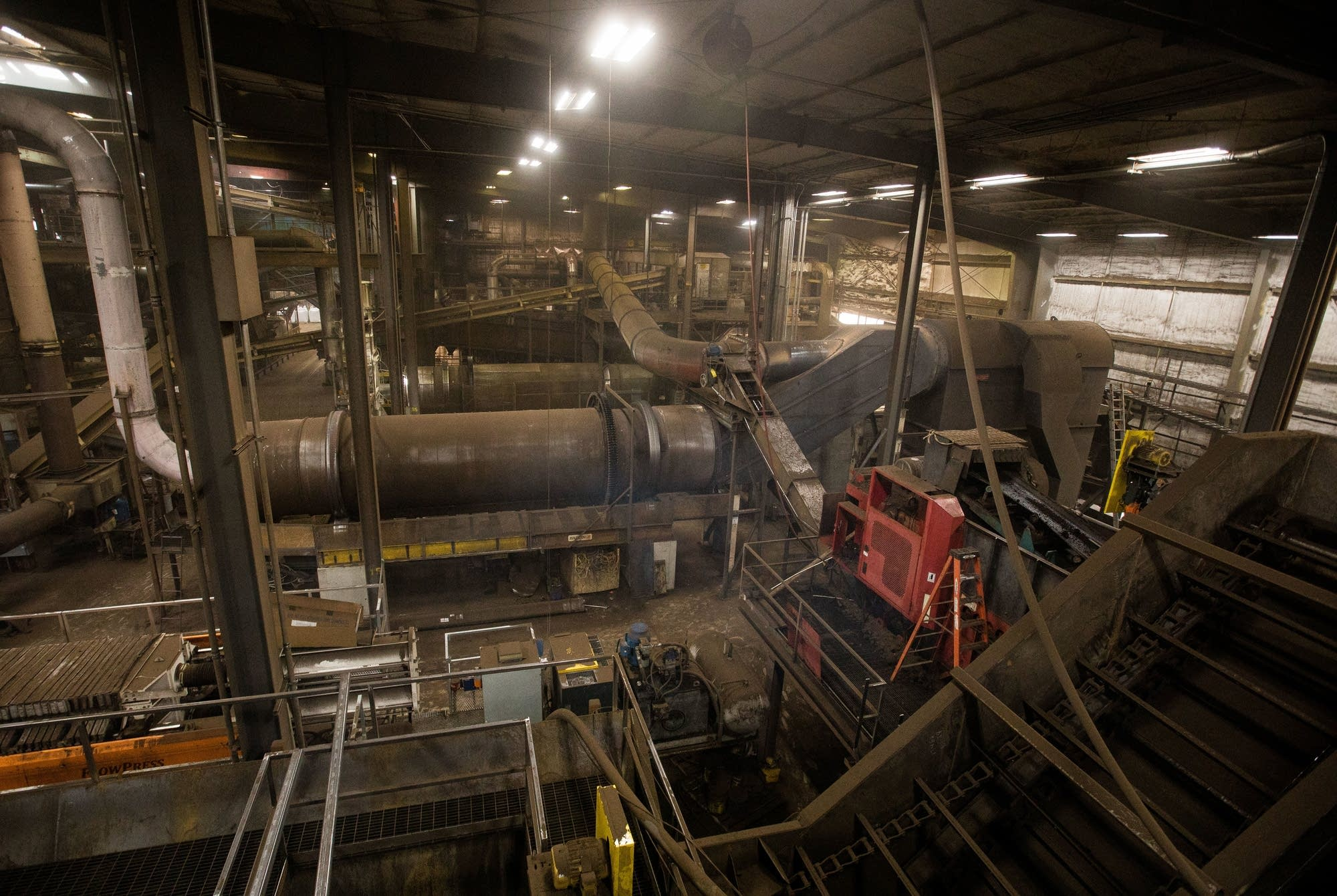 The inside of American Peat Technology's plant near Aitkin, Minn.