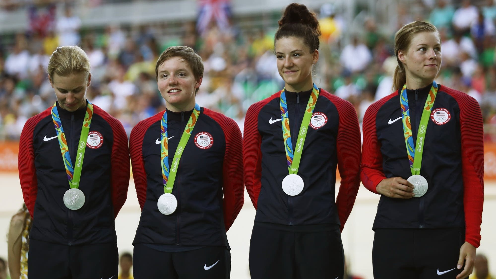 Silver medalist cyclists