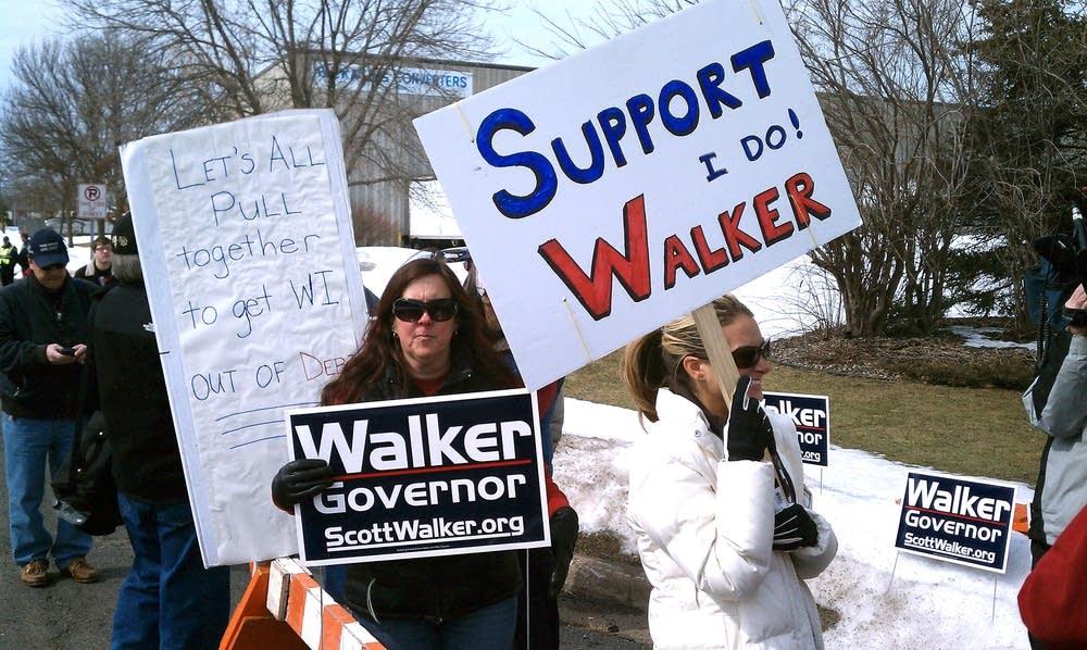 Walker supporters