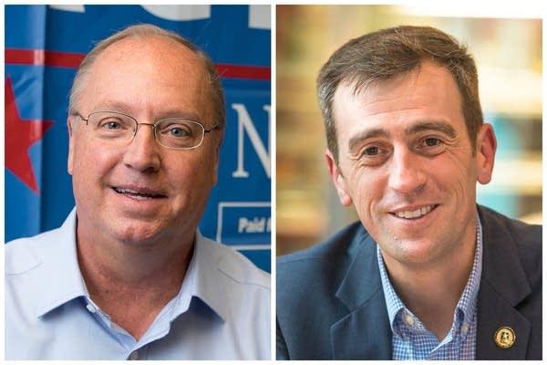 Jim Hagedorn (left) and Dan Feehan.