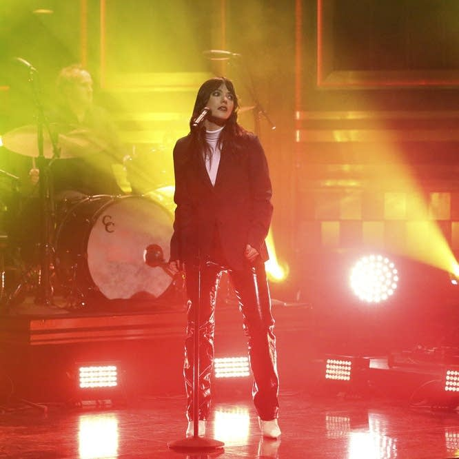 Sharon Van Etten performs on 'The Tonight Show' on NBC