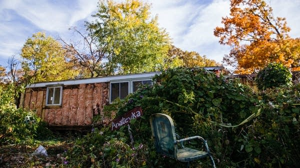 An abandoned trailer in Lowry Grove.