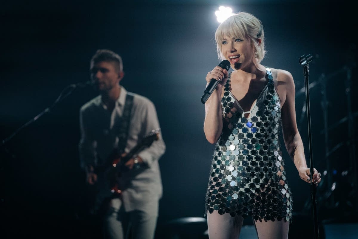 Carly Rae Jepsen performs on 'The Late Late Show with James Corden'
