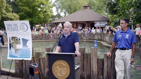 Gov. Mark Dayton announces 'Year of Water Action.'
